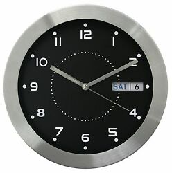 87784 Equity by La Crosse 11 Day & Date Metal Analog Wall Clock
