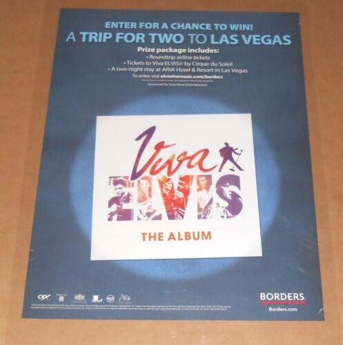 Elvis Presley Viva Las Vegas Poster Original 2010 Promo 24x18