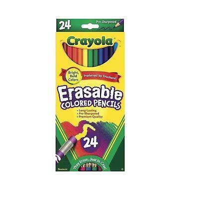 Crayola Erasable Colored Pencils Assorted Colors Set of - Crayola Erasable Colored Pencils