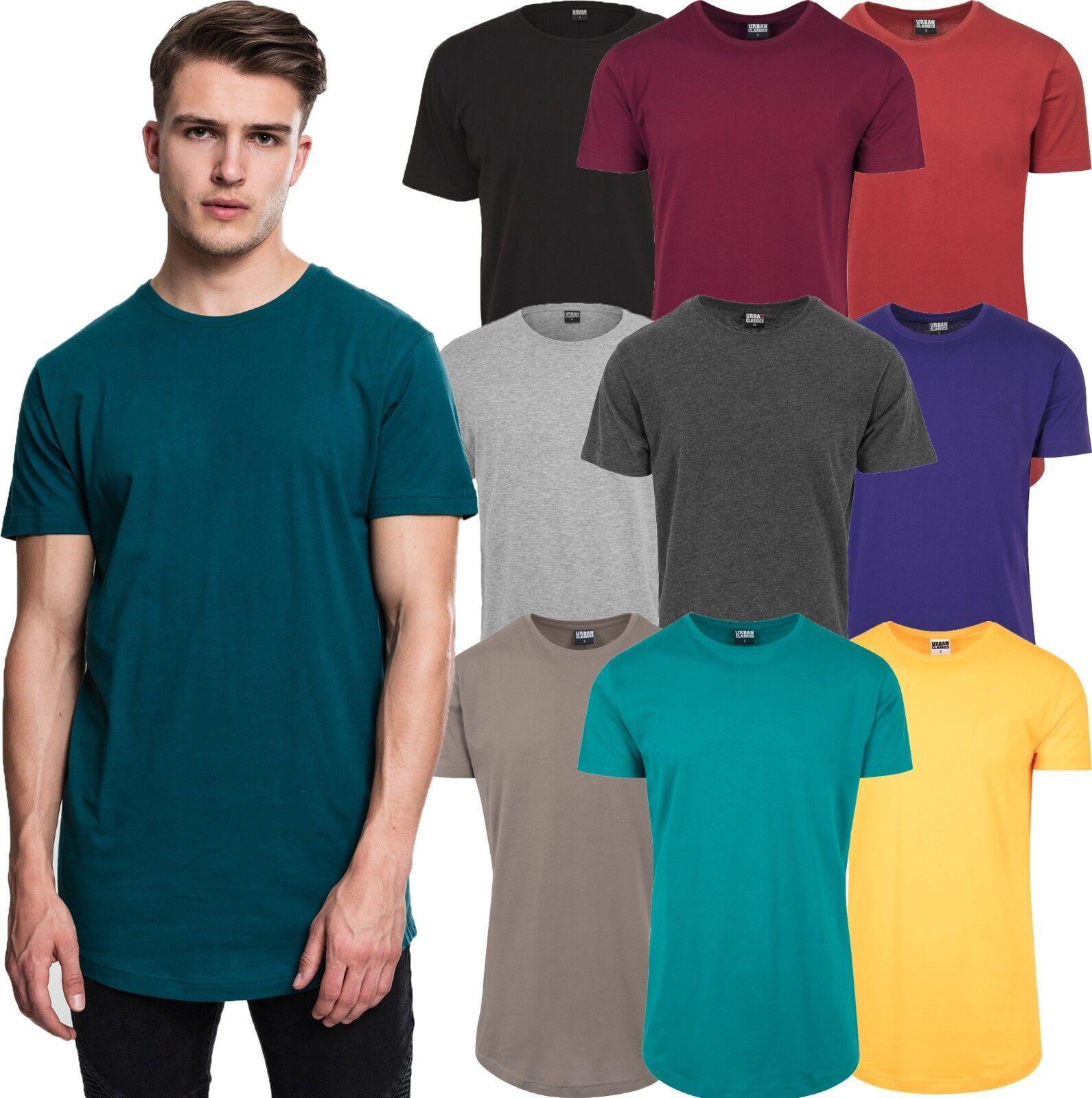 ae88c0fe73f0 Urban Classics Herren T-Shirt extra lang long Shirt Tee shaped ...