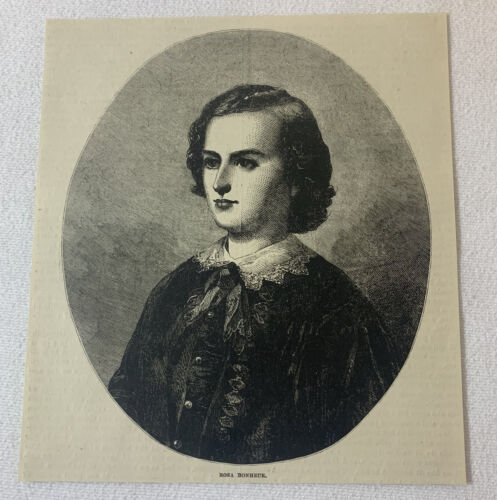1880 magazine engraving~ ROSA BONHEUR