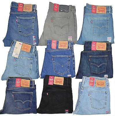 Levis 514 Mens Jeans Slim Fit Straight Leg Many Sizes Many Colors New With Tags