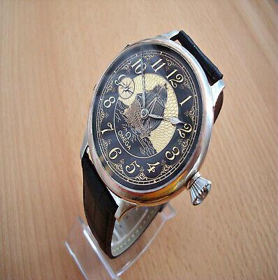 Frigate Deco dial Luxury watch Swiss Vintage pocket watch movement Omega 1931