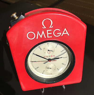 Rare OMEGA Rattrapante Chronograph + Red OMEGA Timing Case (Auto Rally Racing)