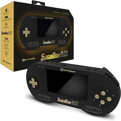 Hyperkin SupaBoy Blackgold Portable Console for Nintendo SNES / Super Famicom
