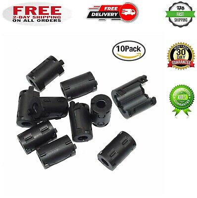 10-pack 9mm Ring Core Ferrite Bead Choke Coil Clamp Rfi Cable Clip Noise Filter