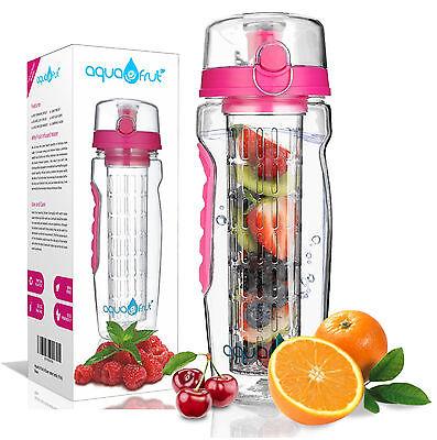 AquaFrut 32oz Fruit Infuser Water Bottle  with Bonus Brush!