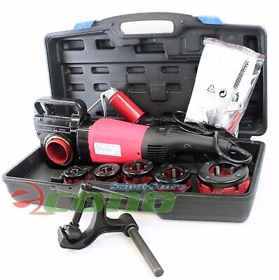 2000w Portable Electric Pipe Threader With 6 Dies Threading Machine 12 To 2