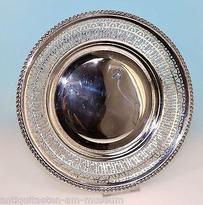 """Silberschale """"LASARUS POSEN """" 800er Silber, Durchbruch Dekor - 16186 -"""