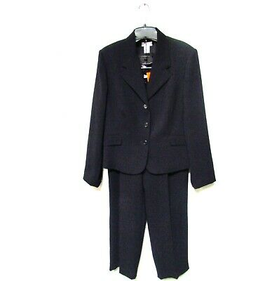 Investments Womens Pant Suit Black Size 14 12R