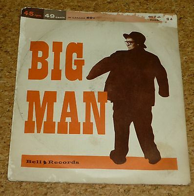 Single Jimmy Carroll Rumble / Jimmy Leyden Big Man Bell Records 84