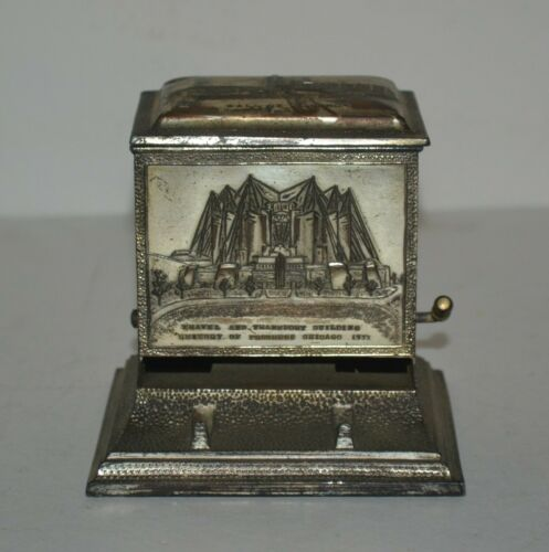 Vintage 1933 Century Of Progress Cigarette Dispenser Chicago