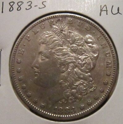 1883-S MORGAN SILVER DOLLAR AU BETTER DATE US SILVER COIN WITH GREAT DETAILS