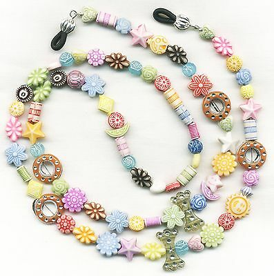 Unique~Artsy~Funky~Colorful Eyeglass~Glasses Holder Necklace Chain CUSTOMIZED