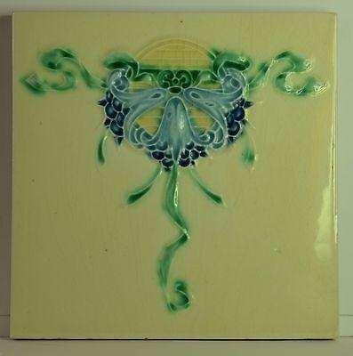 Antique Art Nouveau Ceramic Tile