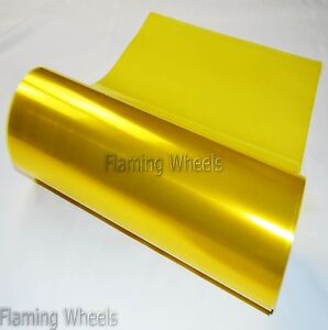 Yellow Fog Light Headlight Tint Tinting Film Car Bike Van Wrap Sheet 60cm x 30cm