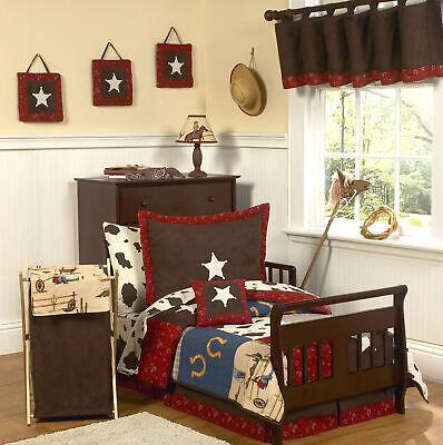 Jojo Designs Western Theme Cow Boy Horse Toddler Kid Bedding Comforter Sheet Set](Cow Boy Theme)