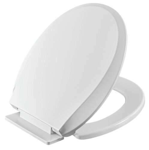 LibraS Heavy Duty Toilet Seat Cover, Round/Elongated Slow Close, Easy Clean