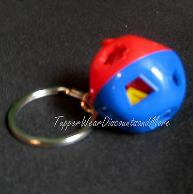Tupperware New Tiny Mini Miniature Shape O Ball Keychain Keyring FREE SHIPPING