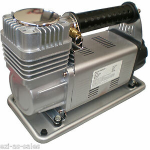 HEAVY DUTY AIR COMPRESSOR 12V 160 LPM LITRES PER MINUTE PORTABLE 4WD 4X4 OFFROAD