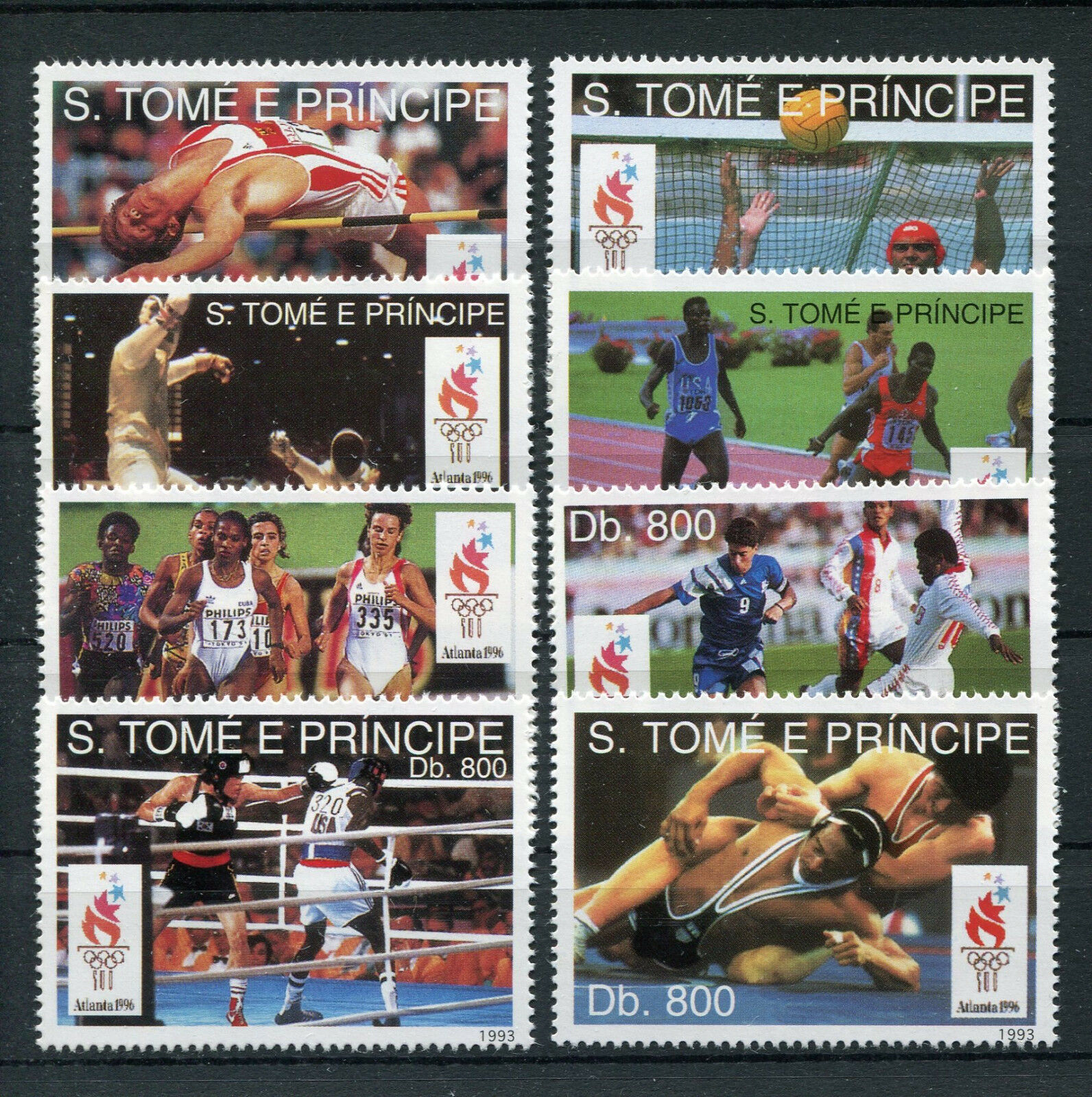 Sao Tome 1451/58 postfrisch / Olympiade ..................................2/2402