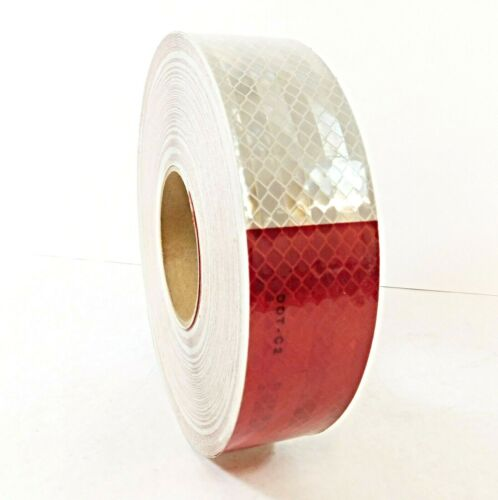 3m 963-326 Flexible Prismatic Red/White Conspicuity Marking 2 in x 50 yd DOT- C2