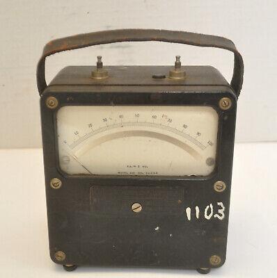 Vintage Weston Electrical Instrument Corp. Dc 0-100 Fs 2 Mv Model 430