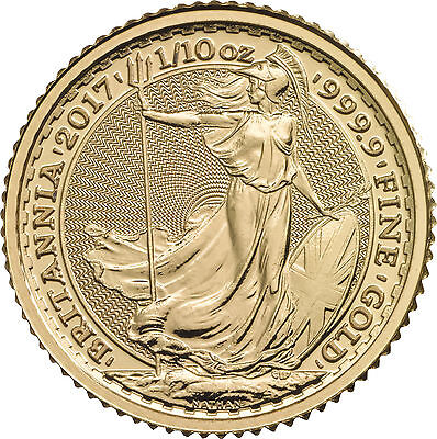 2017 Great Britain 1 10Oz Gold Britannia  9999 Fine Bu