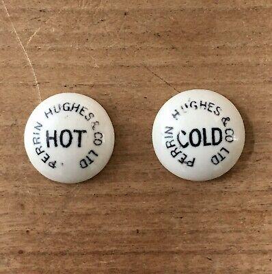 Hot & Cold Tap Ceramic Indices Antique Tap Tops Bath Sink Original NOS Old 19mm