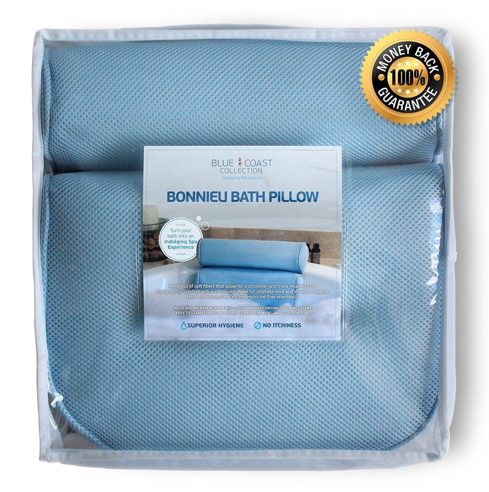 The Bonnieu Luxury Bath Pillow by Blue Coast Collection. Best Neck ...