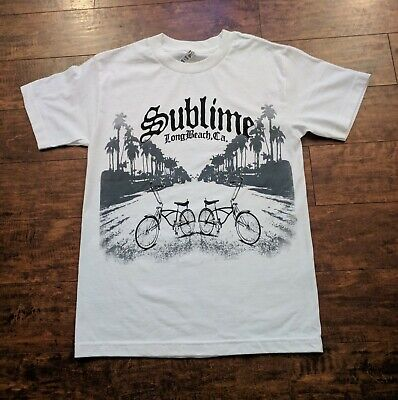 Lowe Shirt (NEW SUBLIME LONG BEACH LOW RIDER BIKES WHITE T)