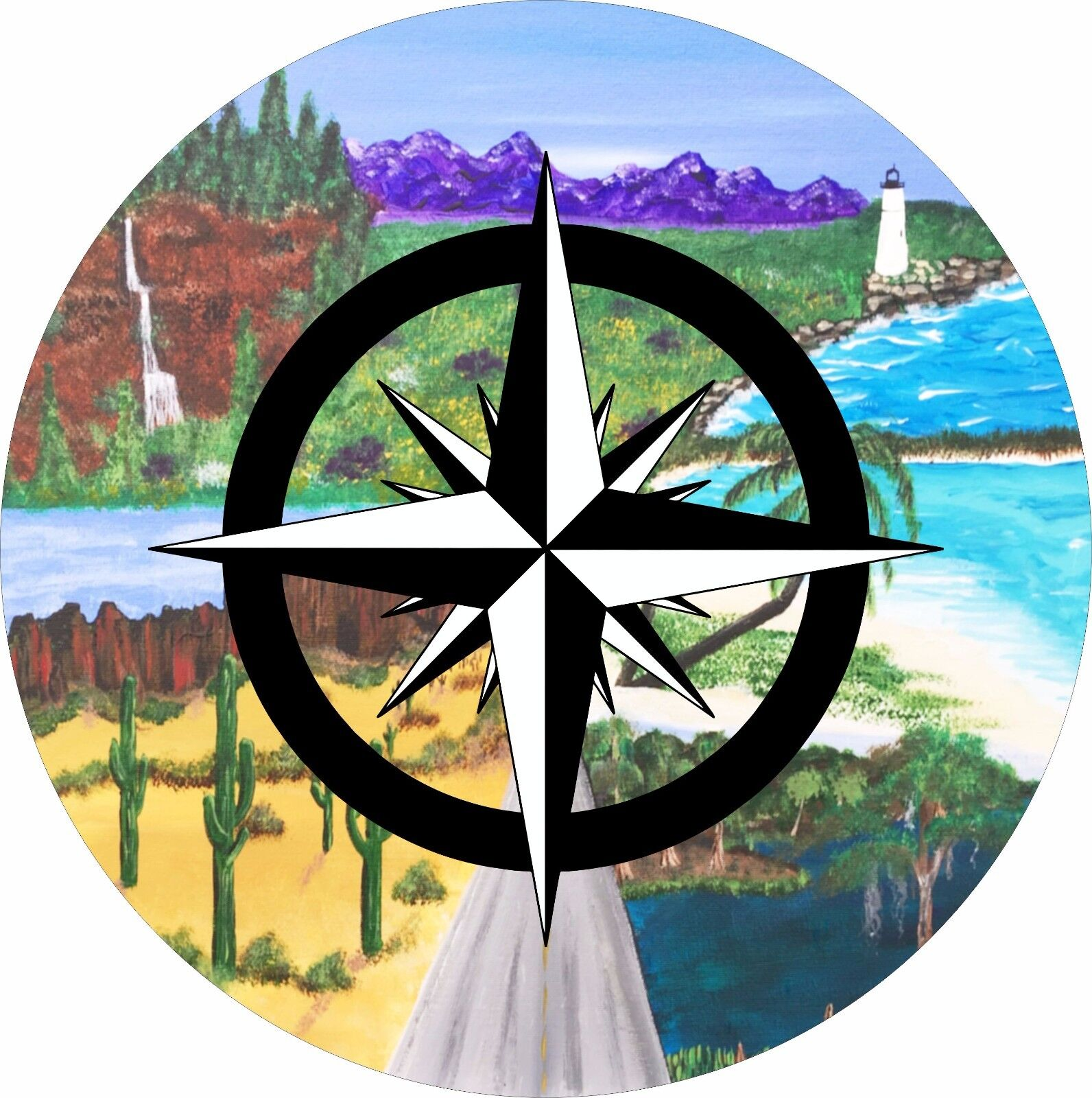 Where the Road Leads Compass Tire Cover ALL SIZES Campers Trailers RVs Jeep JL