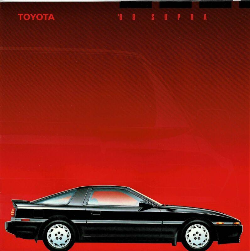 1989 Toyota Supra Large Deluxe 20-Page Dealer Sales Brochure