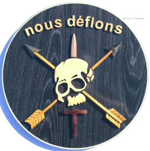 NOUS DEFIONS Handcrafted Military Wood Art Plaque - Special Forces