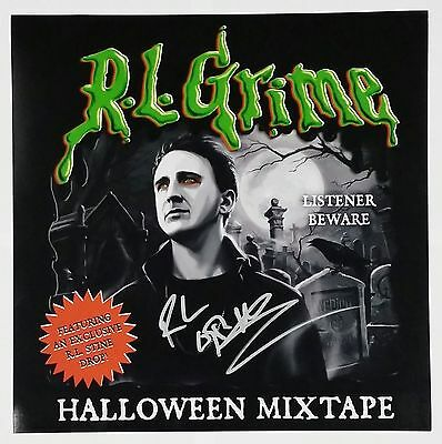 R.L. GRIME SIGNED HALLOWEEN MIXTAPE 12X12 ALBUM COVER PHOTO W/COA