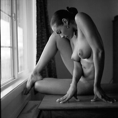Fine Art NUDE print female model naked 8x10 Black & White photograph. Signed!!