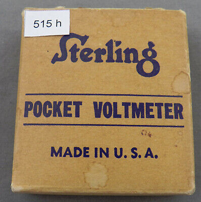 Vintage Sterling Pocket Voltmeter In Original Box Ca 1950