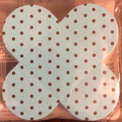 50 pcs Blue and Brown polka dots - Candy Liners, Chocolate - Blue Wrapper Chocolate