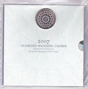 2007 DIAMOND WEDDING UNCIRCULATED £5 CROWN PACK