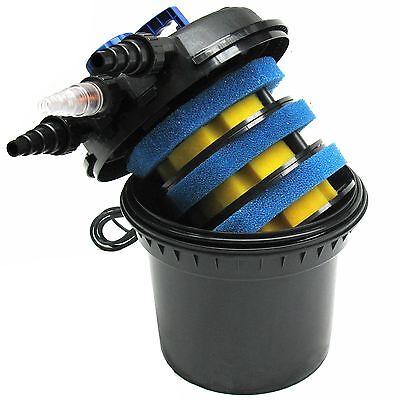 CPF180 UVC Druckfilter Druckteichfilter 8000 l/h Teich 11W UV Wasserfilter 55093