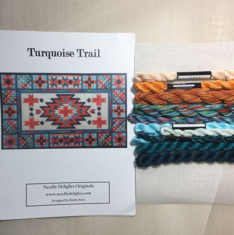 Counted Canvas needlepoint Kit Needle Delights Turquoise Trail KIT southwest