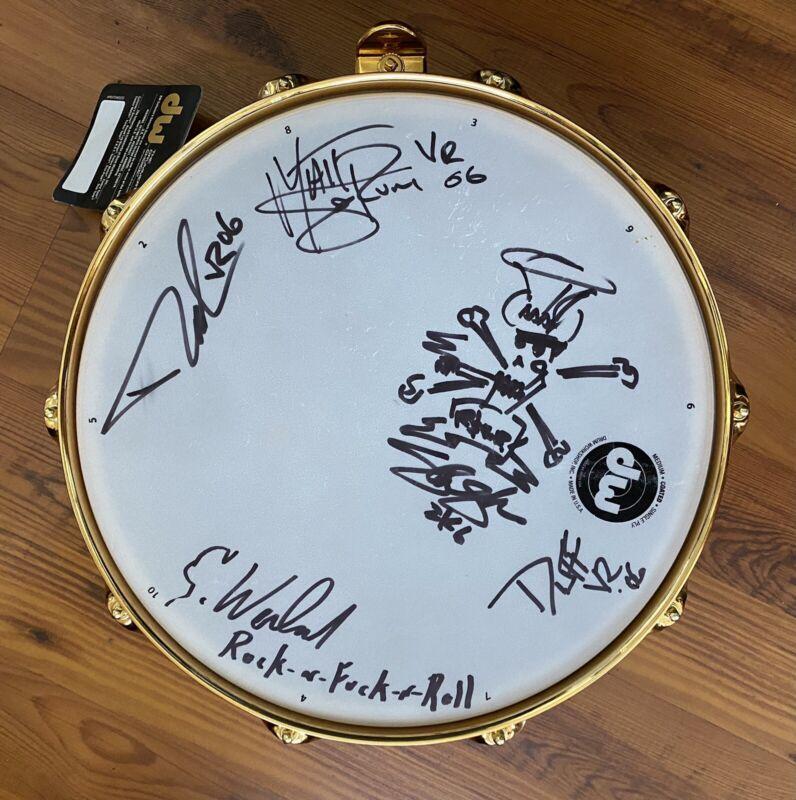 Velvet Revolver Band Signed DW Snare Drumhead Scott Weiland Slash Duff MusiCares