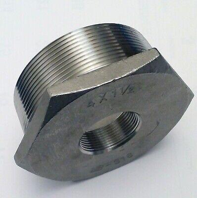 4 Npt Male X 1-12 Npt Female  316 Stainless Steel Hex Reducer Bushing New