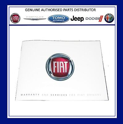 New Genuine Fiat Service History & Warranty Book/Manual. 60395957