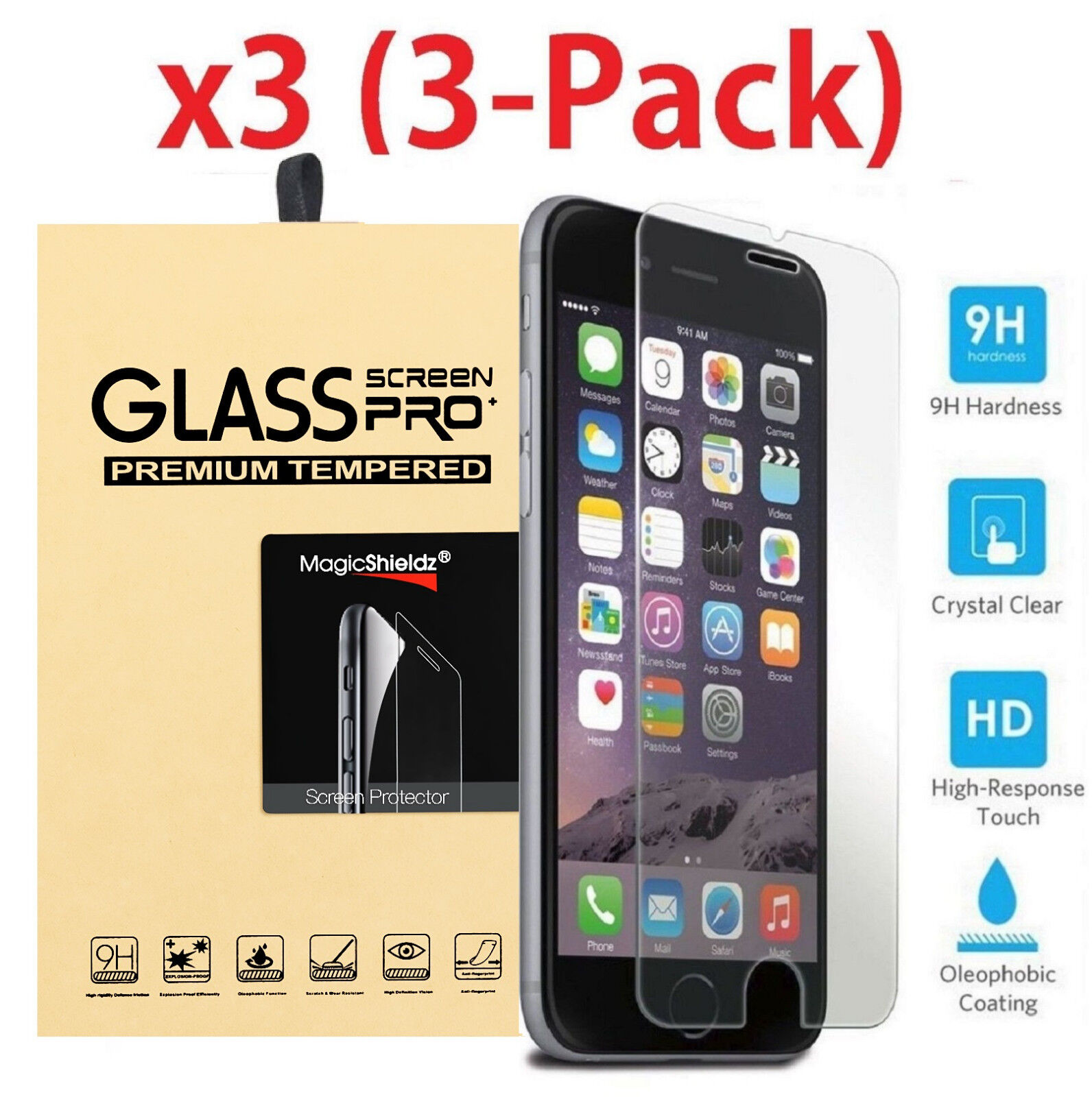 Premium Screen Protector Tempered Glass For iPhone SE 5 6 7 8 Plus X Xs Max XR -   10 - Premium Screen Protector Tempered Glass For iPhone SE 5 6 7 8 Plus X Xs Max XR
