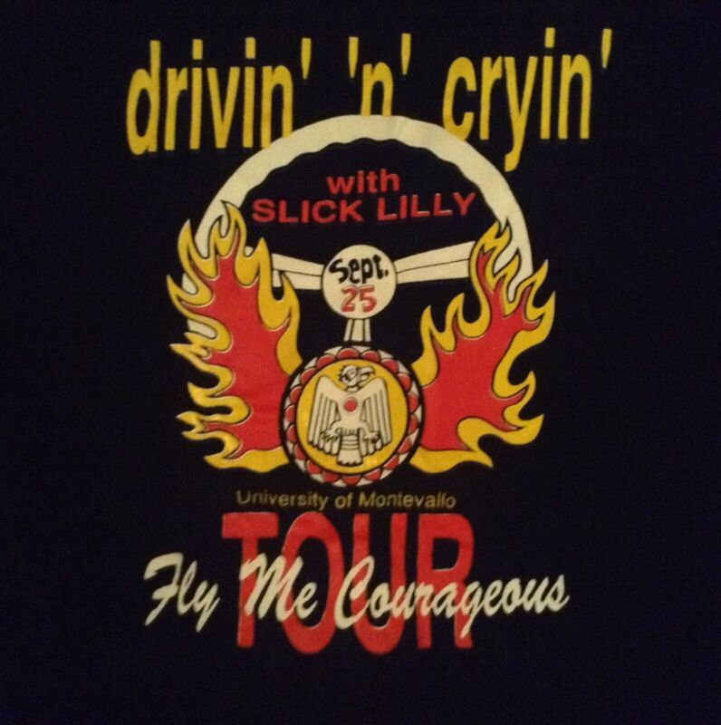 DRIVIN N CRYIN 1991 FLY ME COURAGEOUS TOUR (STAFF) DEADSTOCK TSHIRT XL
