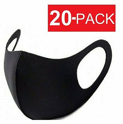 20Pcs Men Women Face Mask Reusable Washable Clothing Covering NEW Cover Masks Accessories