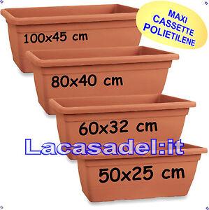 Lacasadel vaso fioriera cassetta balconiera plastica maxi for Wohnzimmertisch 80 x 40