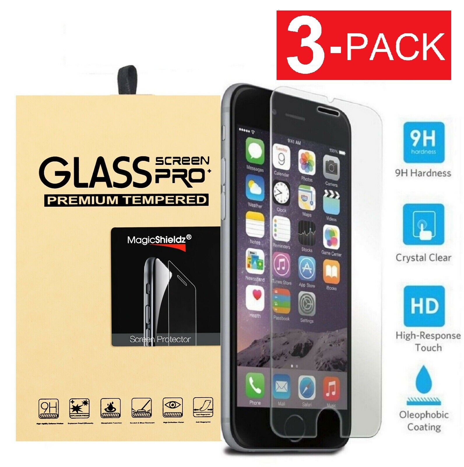 Premium Screen Protector Tempered Glass For iPhone SE 5 6 7