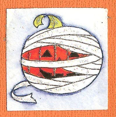 HALLOWEEN Pumpkin Mummy Jack Wood Mounted Rubber Stamp NORTHWOODS C10065 New